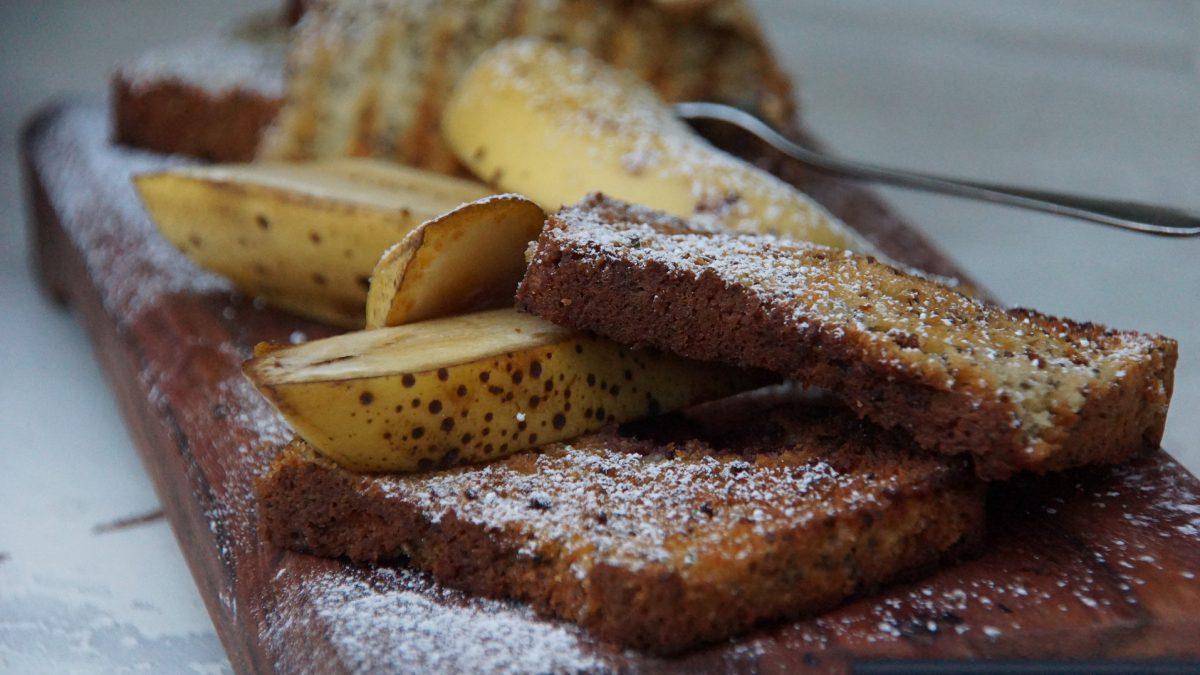 Receita de bolo integral de banana
