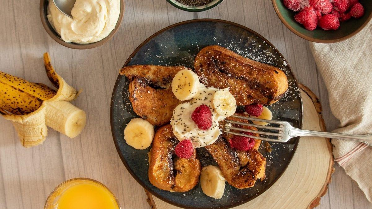 Rabanada de panetone- faça assada ou frita
