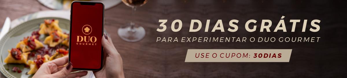 Banner blog Duo Gourmet, experimente 30 dias de assinatura grátis.